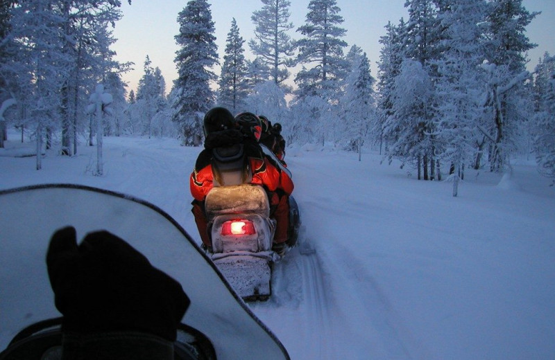 Snowmobiling at Whiplash Lake Resort.