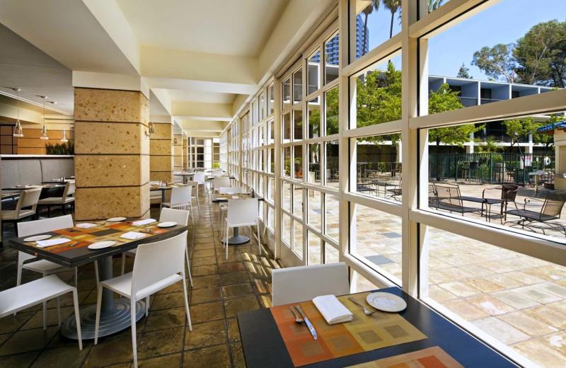 Dining room at Sheraton Universal Hotel.