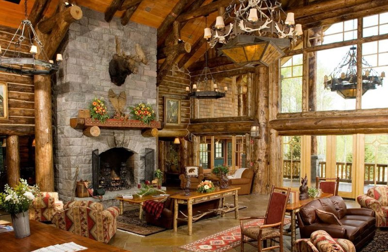 Lodge interior at Lake Placid Vacation Homes.