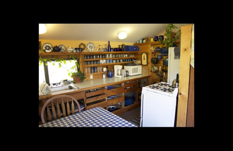 Cottage kitchen at Cort Cottage.