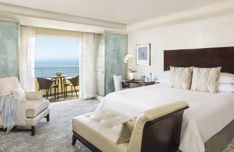 Guest room at The Ritz-Carlton, Laguna Niguel.