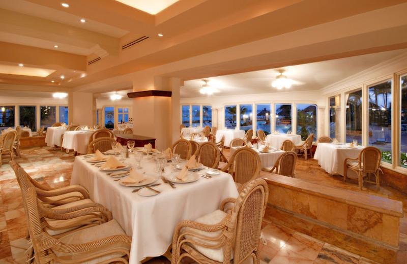 Dining at El Cozumeleno Beach Resort.