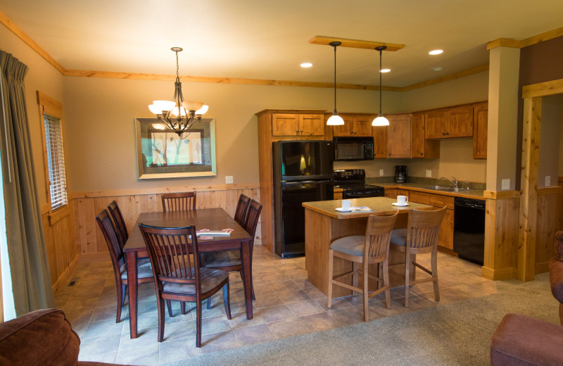 Guest kitchen at Ruttger's Bay Lake Lodge.