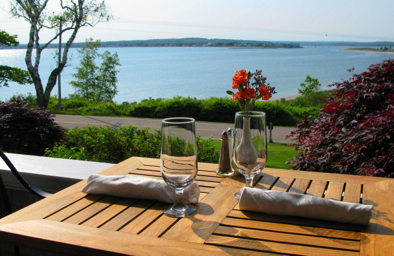 Patio dining at Black Point Inn.