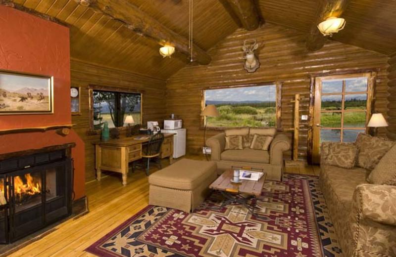 Cache Creek cabin interior at Bar N Ranch.
