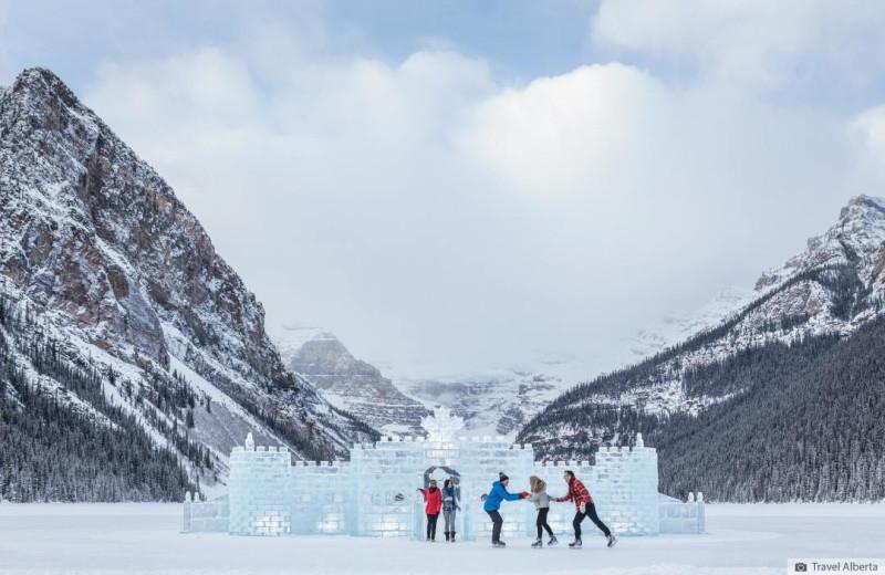 Ice castle near Inns of Banff.