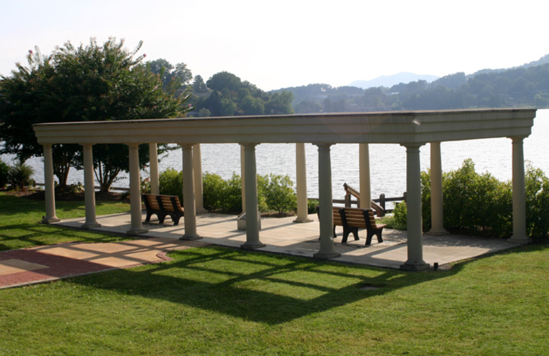 Patio at  Lake Junaluska Conference & Retreat Center.