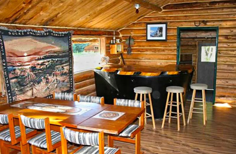 Dining at Laidman Lake Ecolodge.