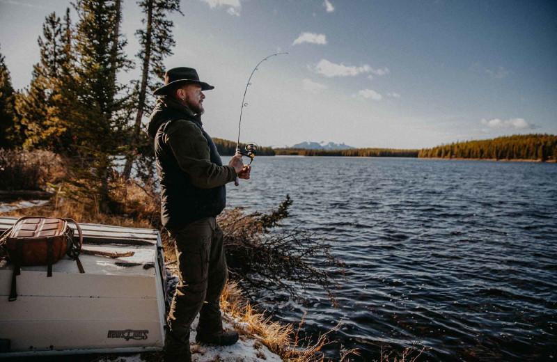 Fishing at Big Creek Lodge.