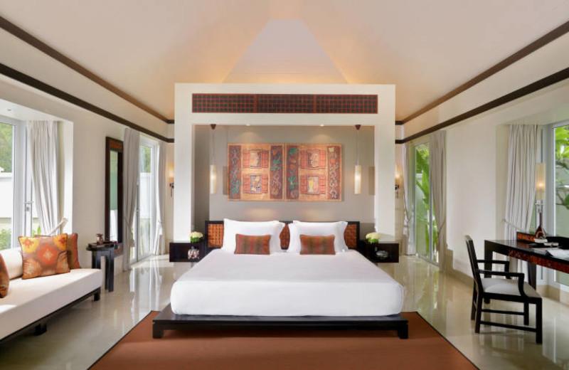 Guest room at Banyan Tree Seychelles.