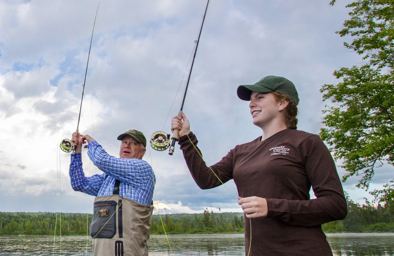 Fishing at Quimby Country Lodge & Cottages.