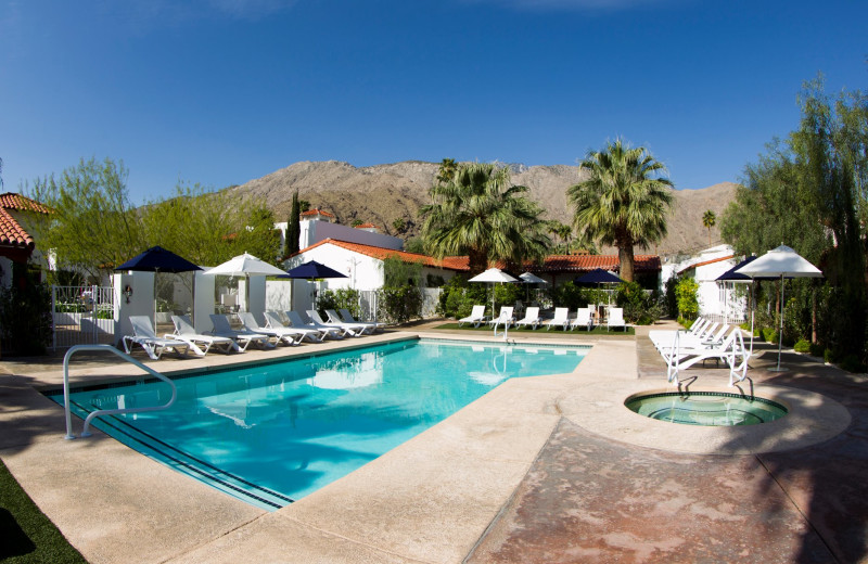 Outdoor pool at Alcazar Palm Springs.