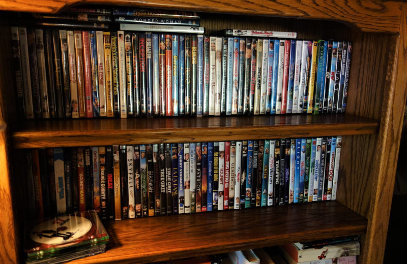 DVDs at O-Bar-O Cabins.