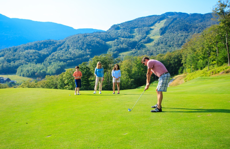 Golf at Stowe Mountain Lodge.