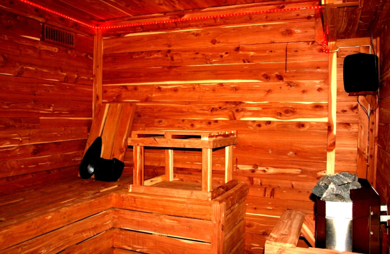 Sauna at River Ridge Inn.