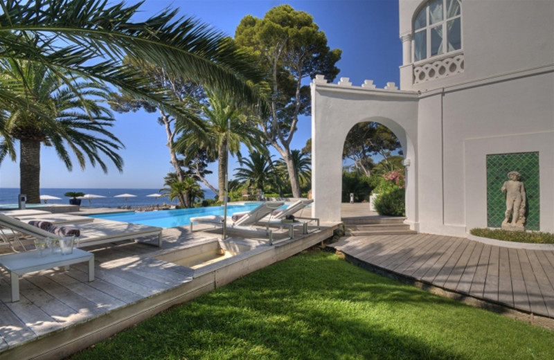 Outdoor pool at La Villa Mauresque.