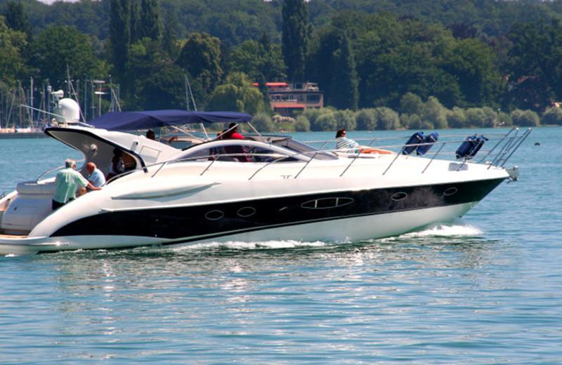 Boating at La Torretta Lake Resort & Spa.