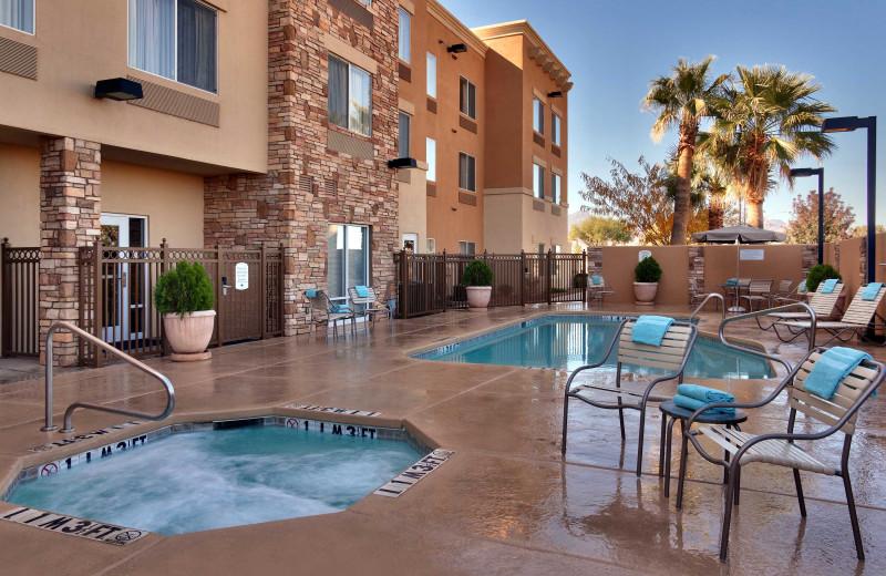 Outdoor pool at Fairfield Inn & Suites Sierra Vista.