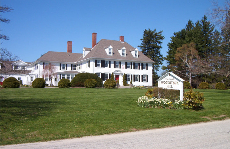 Exterior view of The Inn at Woodstock Hill.