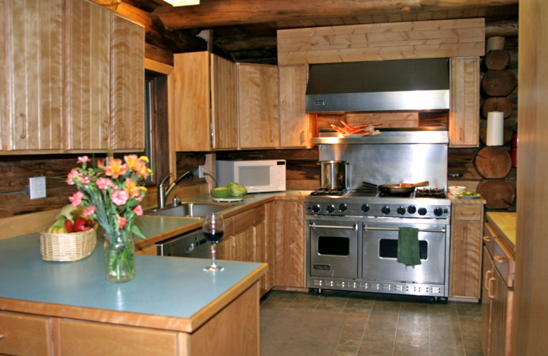 Kitchen of the Main Lodge, Alaska Heavenly Lodge.