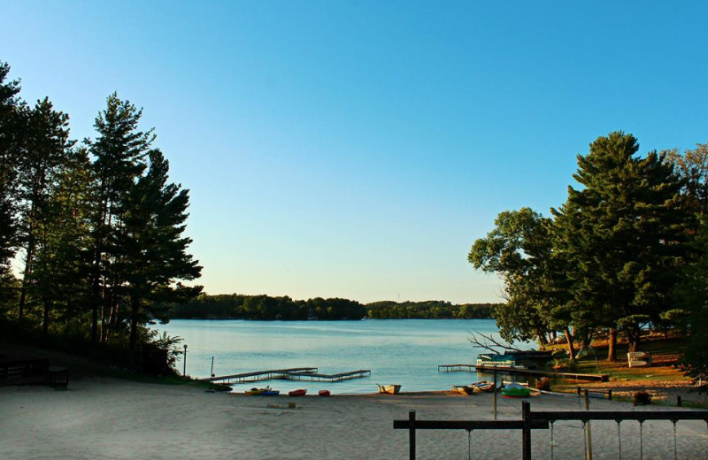 The lake at Baker's Sunset Bay Resort.
