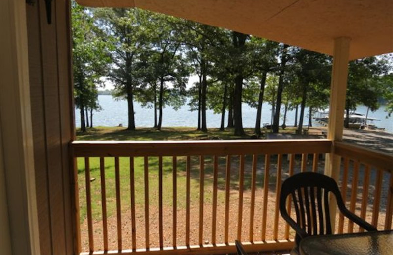 Cottage deck at Shawnee Bay Resort.