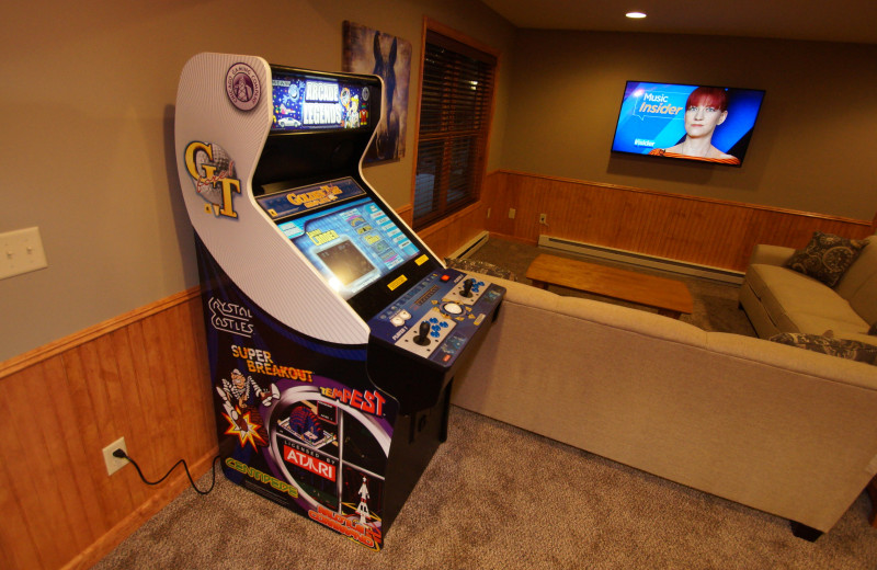 Arcade at Pocono Mountain Rentals.