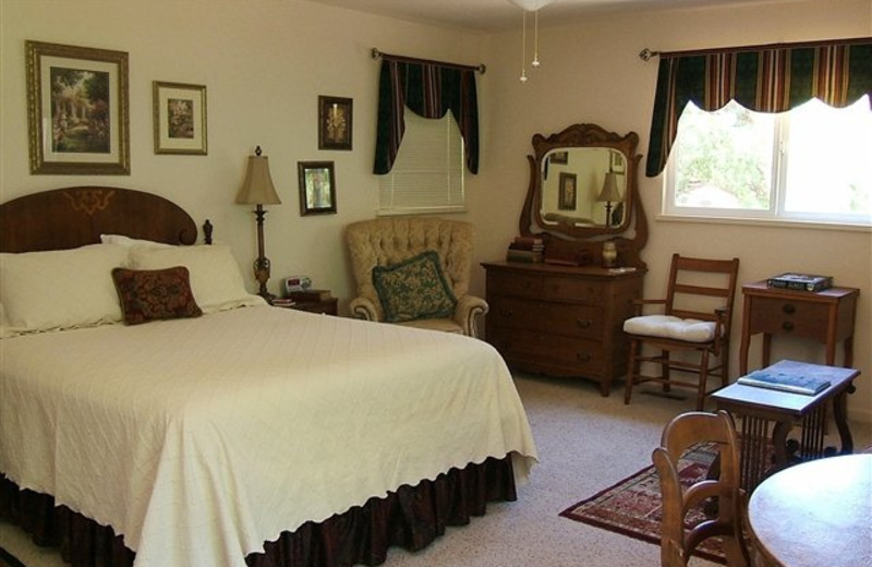 Guest room at Carriage House.
