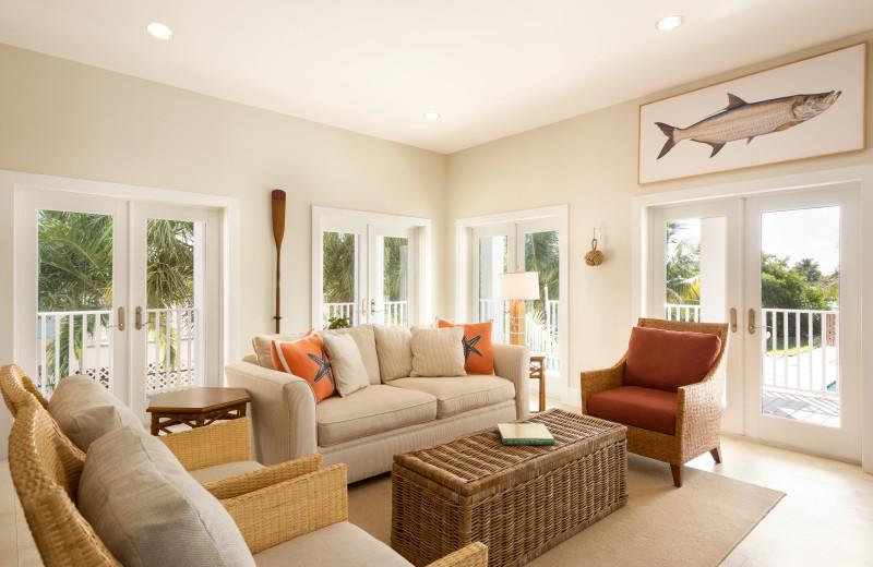 Rental living room at Florida Keys Vacations Inc.