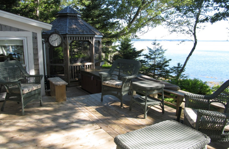Rental deck at Vacation Cottages.