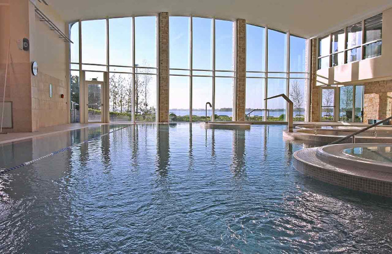 Indoor pool at Hodson Bay Hotel.