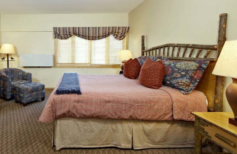 Guest room at Jackson Hole Lodge.