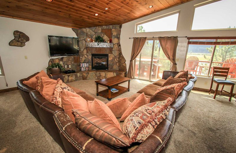 Rental living room at Big Bear Vacations.