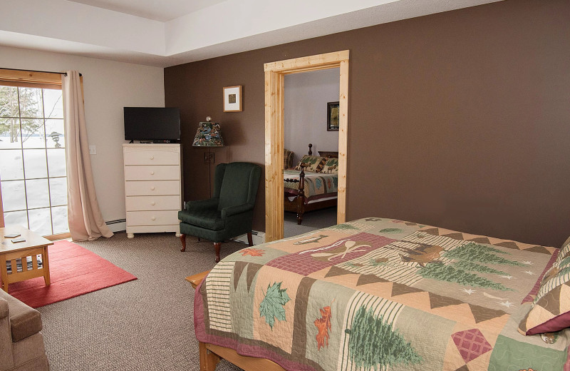Guest room at Skyport Lodge.