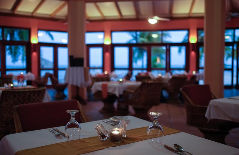 Dining at Almond Beach Resort.