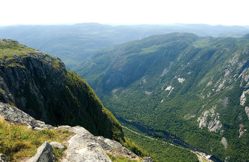 Mountains near Fairmont Le Manoir Richelieu.