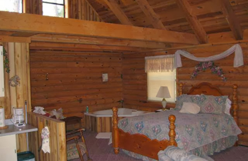 Cabin interior at Ridge Top Resort & Chapel.