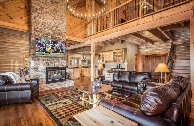 Rental interior at Stony Brook Cabins LLC.