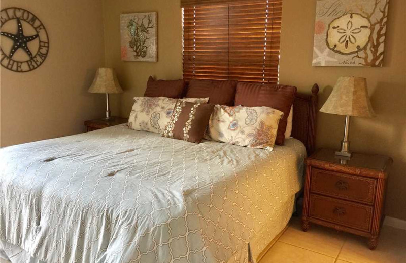 Rental bedroom at Gulf Shores Rentals.