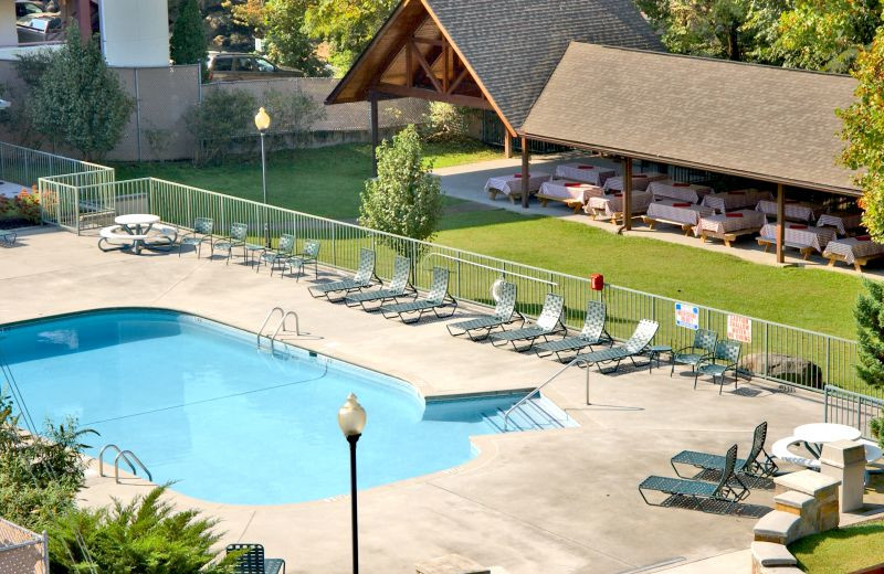 Pool View at  Glenstone Lodge