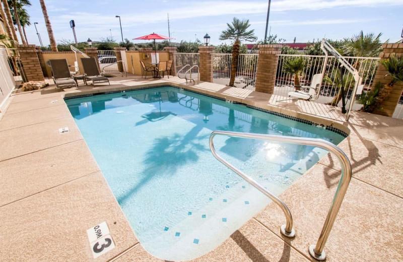 Outdoor pool at Sleep Inn North.