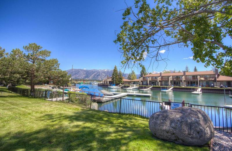 Rental docks at Lake Tahoe Accommodations.