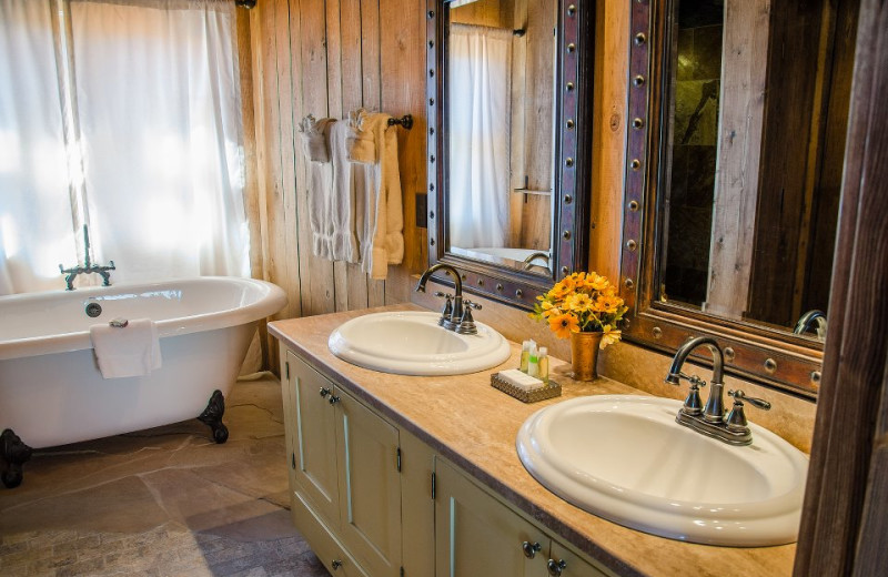 Bathroom at Zion Mountain Ranch.