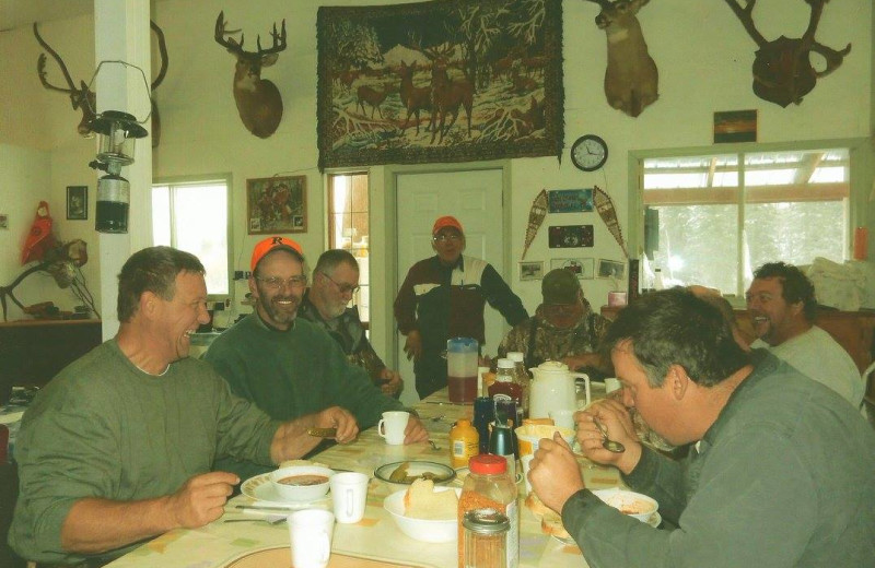Dining at Dahl Creek Outfitters.