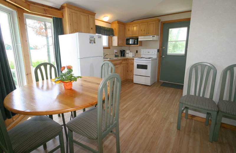 Guest kitchen at Elmhirst's Resort.