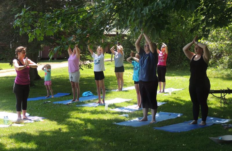 Yoga at Northland Lodge.