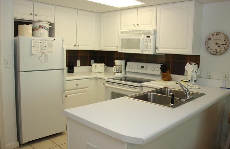 Guest kitchen at Phoenix All Suites Hotel.
