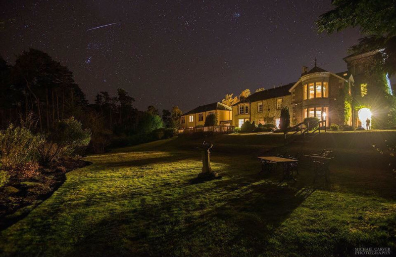 Night time at Loch Ness Country House Hotel.