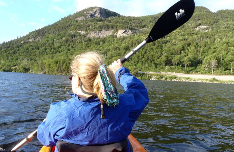 Kayaking at Franconia Notch Vacations Rental & Realty.