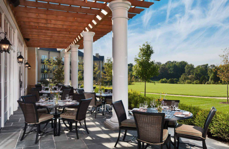 Patio dining at Salamander Resort & Spa.